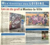 Graffitizm 2014 : Article dans le Courrier de Mantes