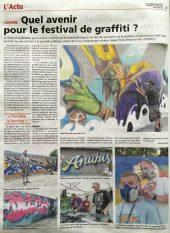 Graffitizm 2016 : Article dans le Courrier de Mantes
